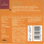 "Domori Kolumbien-Bitterschokolade ""Teyuna"", Inhaltsangaben"