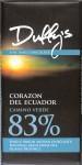 Duffy's Bitterschokolade 83% Ecuador - Vorderseite