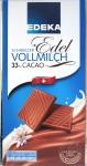 Vorderseite Edeka-Milchschokolade 33% Schweiz