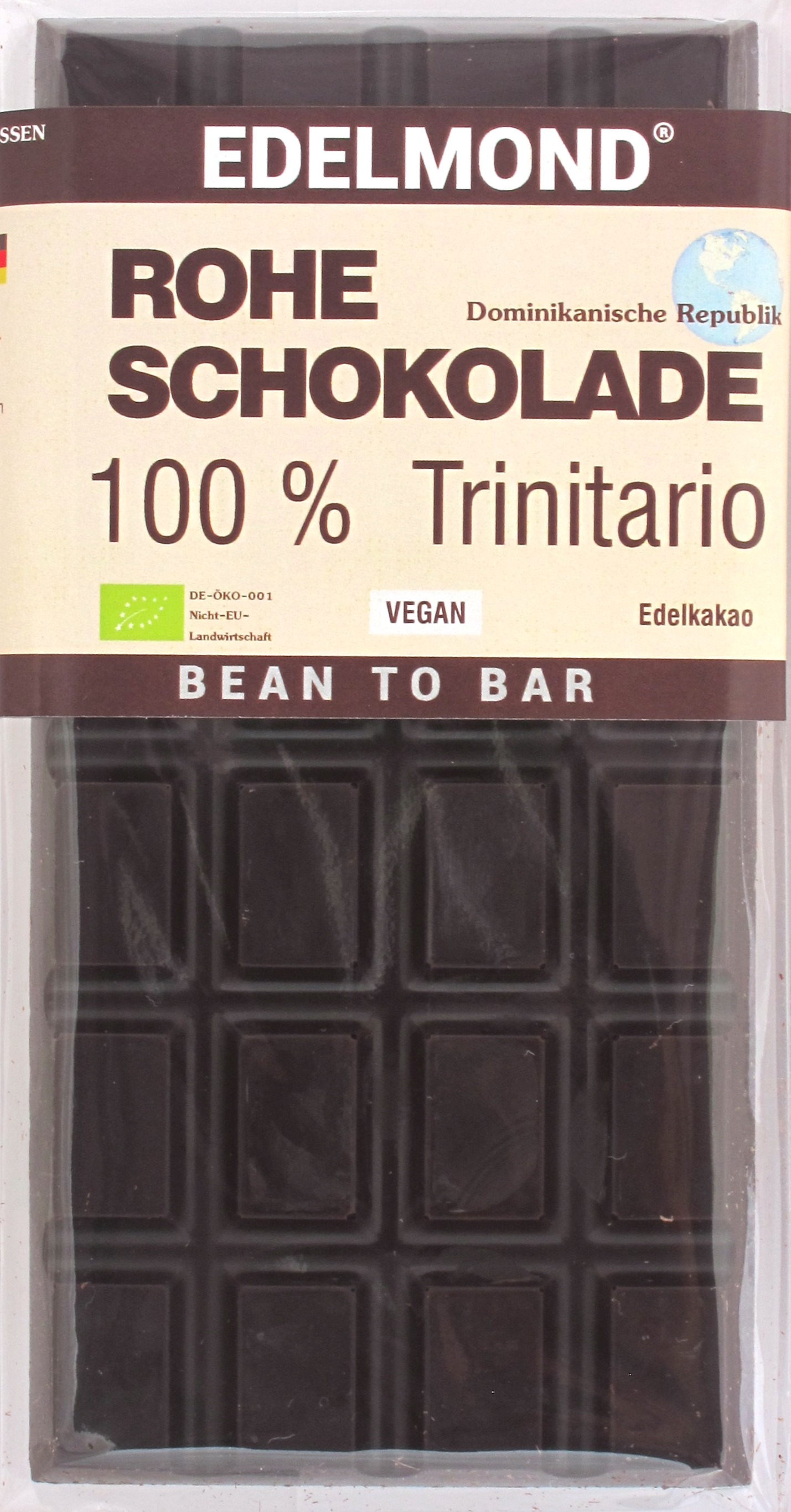 Edelmond 100% Trinitario Raw Chocolate, Dominikanische Republik