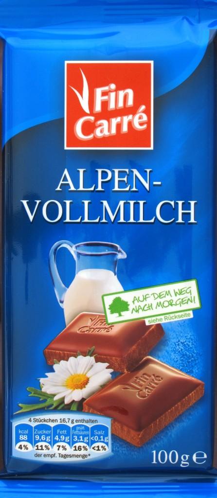 Packung Lidl-Milchschokolade