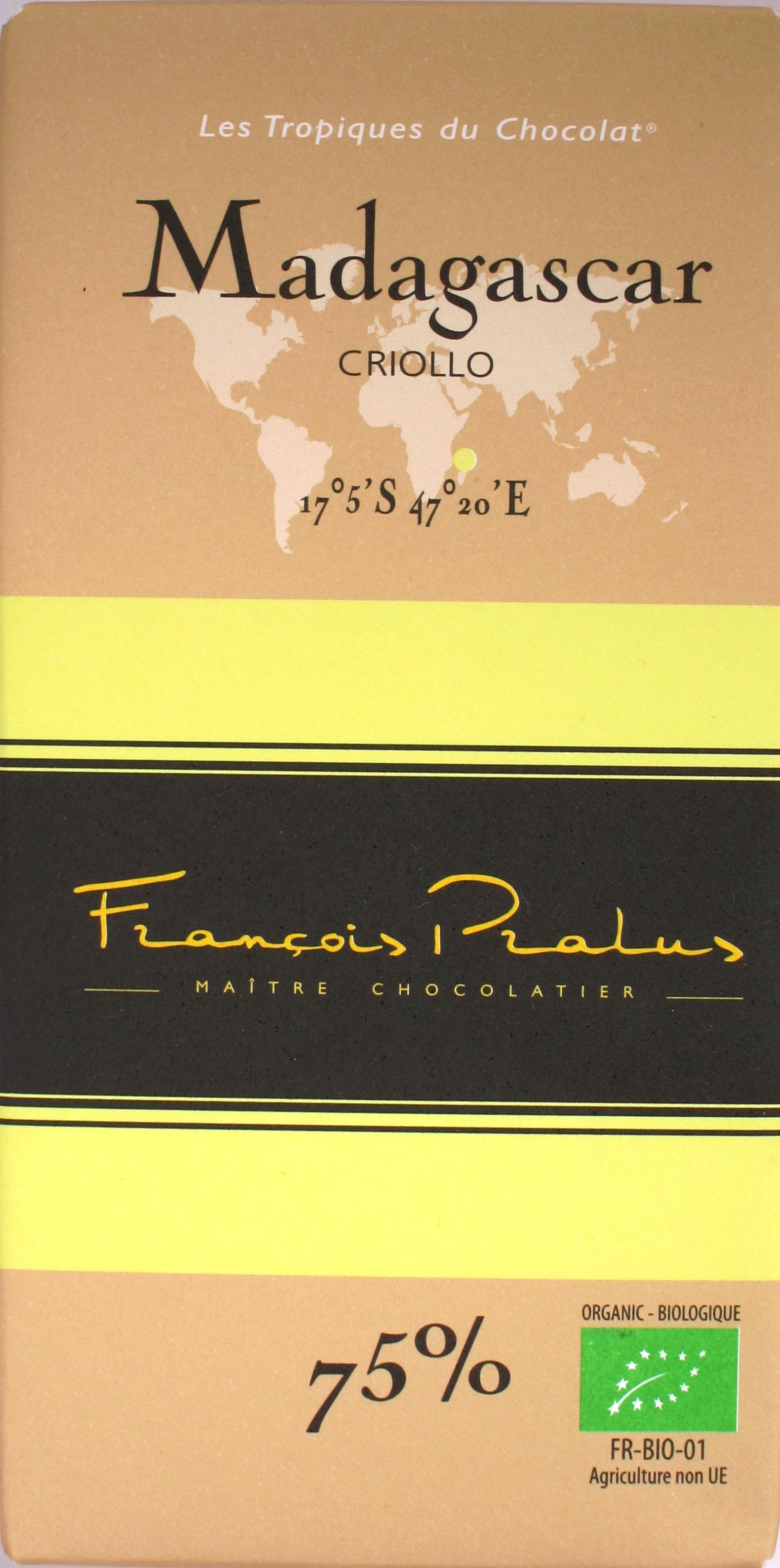 Pralus-Schokolade Madagascar 75%