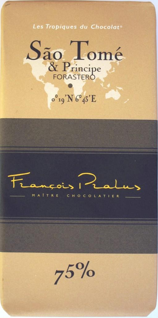 Vorderseite Francois Pralus Sao Tome & Principe Schokolade 75%