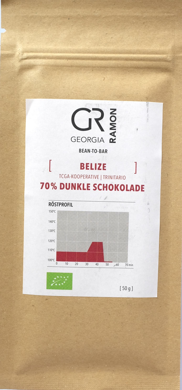 Vorderseite: Georgia Ramon, 70% Belize-Schokolade