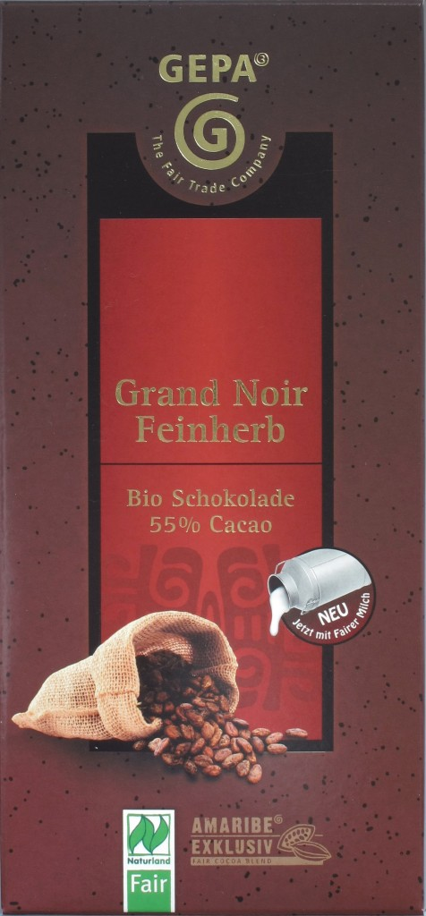 """GEPA Schokolade """"Grand Noir Feinherb"""""""