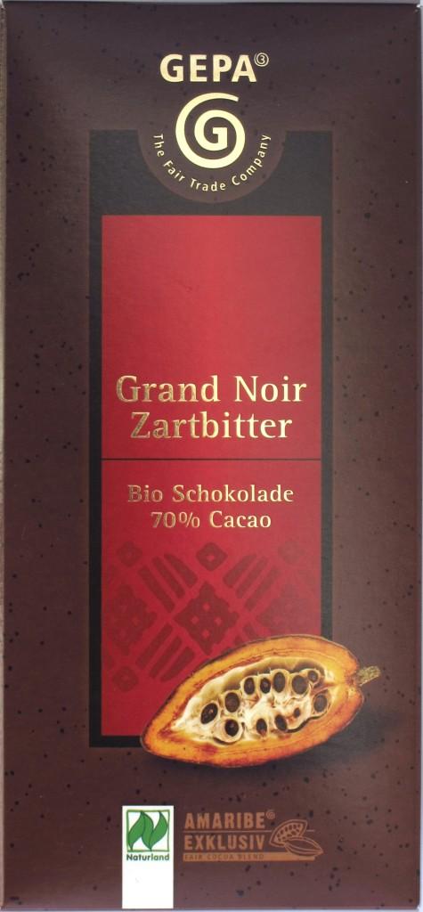 Vorderseite GEPA 70%-Zartbitterschokolade