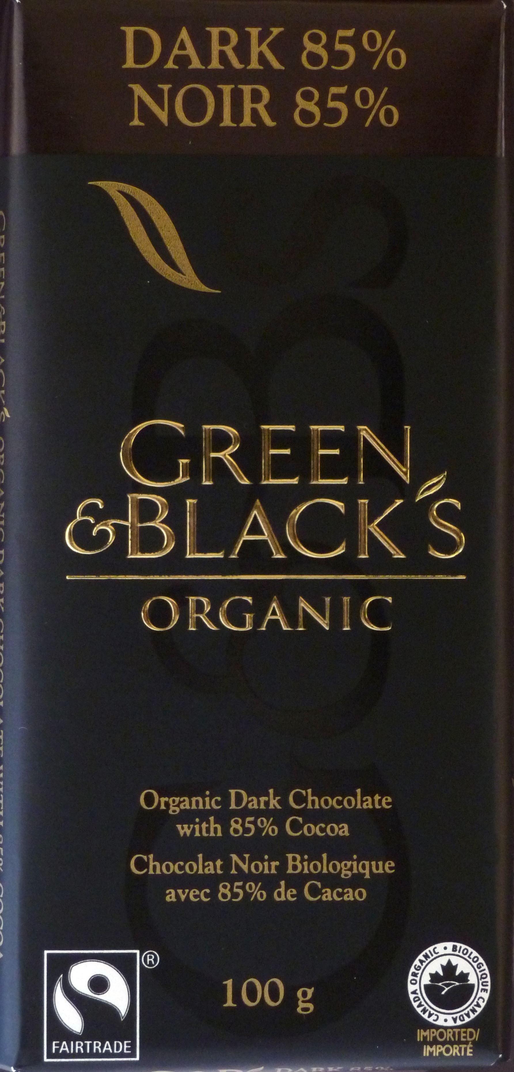 Green & Blacks englische Bio-Schokolade 85%