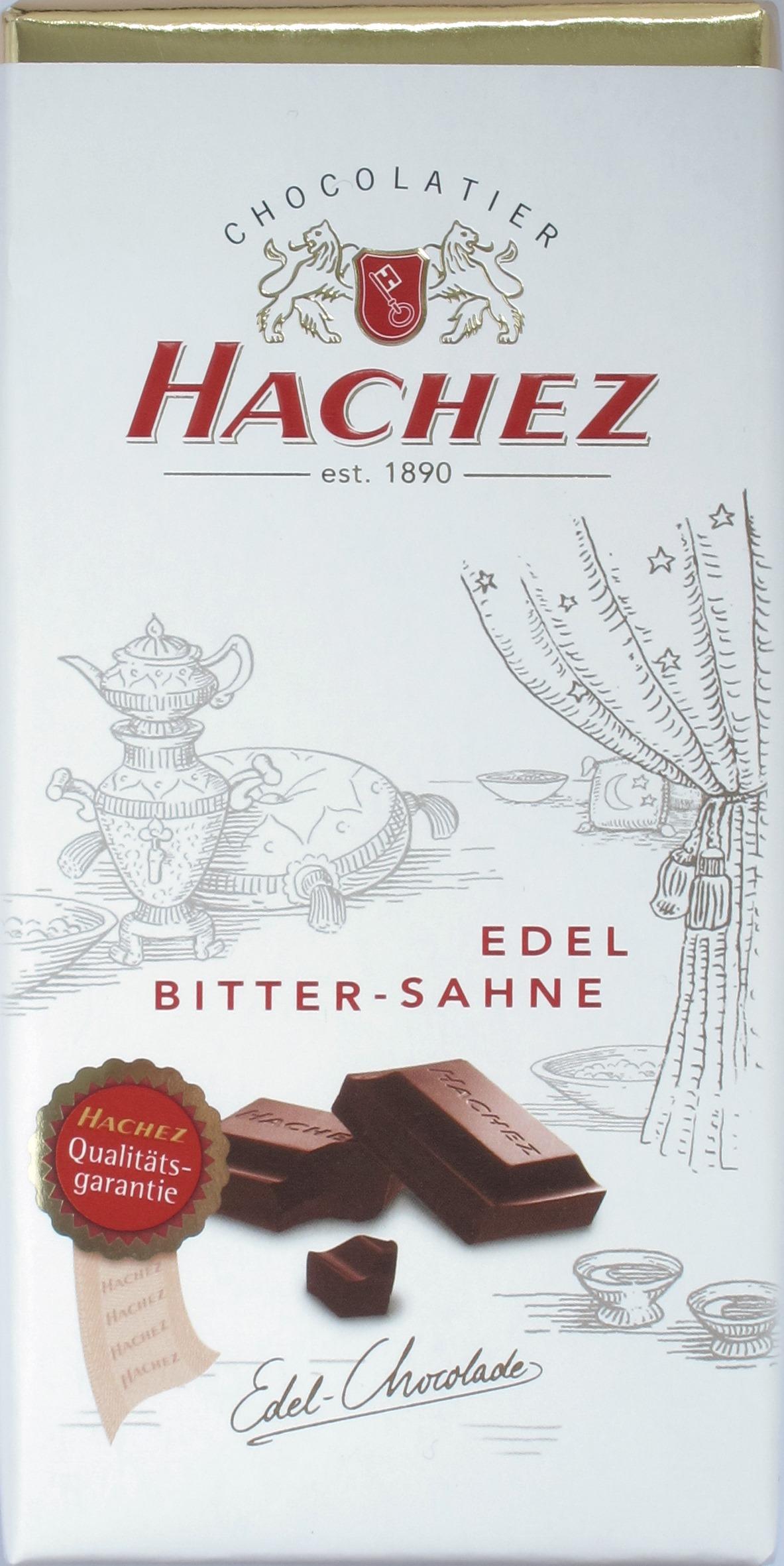 Hachez-Milchschokolade Edel Bitter-Sahne