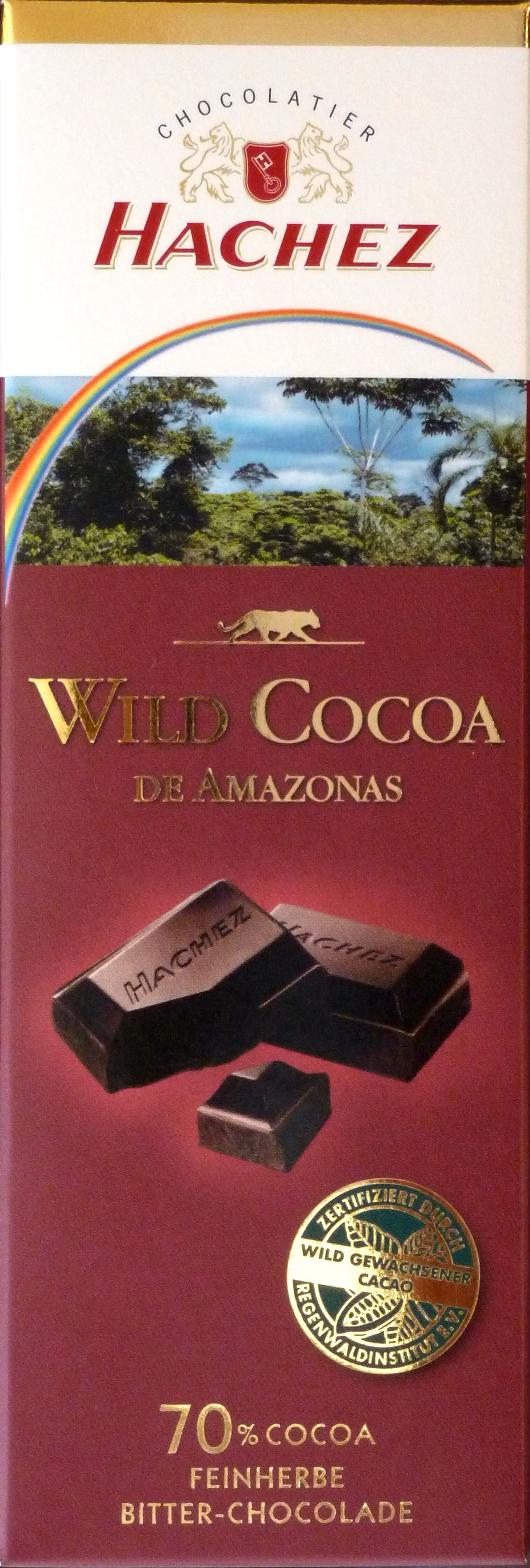 Hachez Wild Cocoa de Amazonas 70%: Vorderansicht