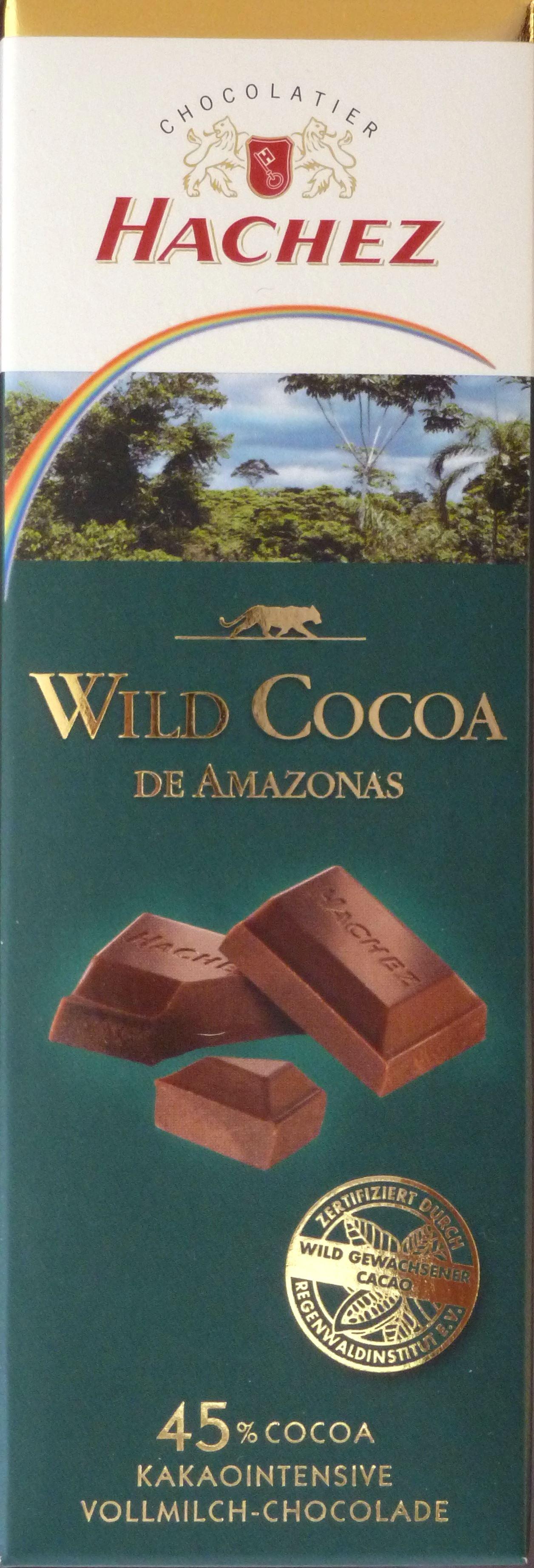 """Hachez """"Wild Cocoa de Amazonas"""" intensive Vollmilch-Chocolade"""