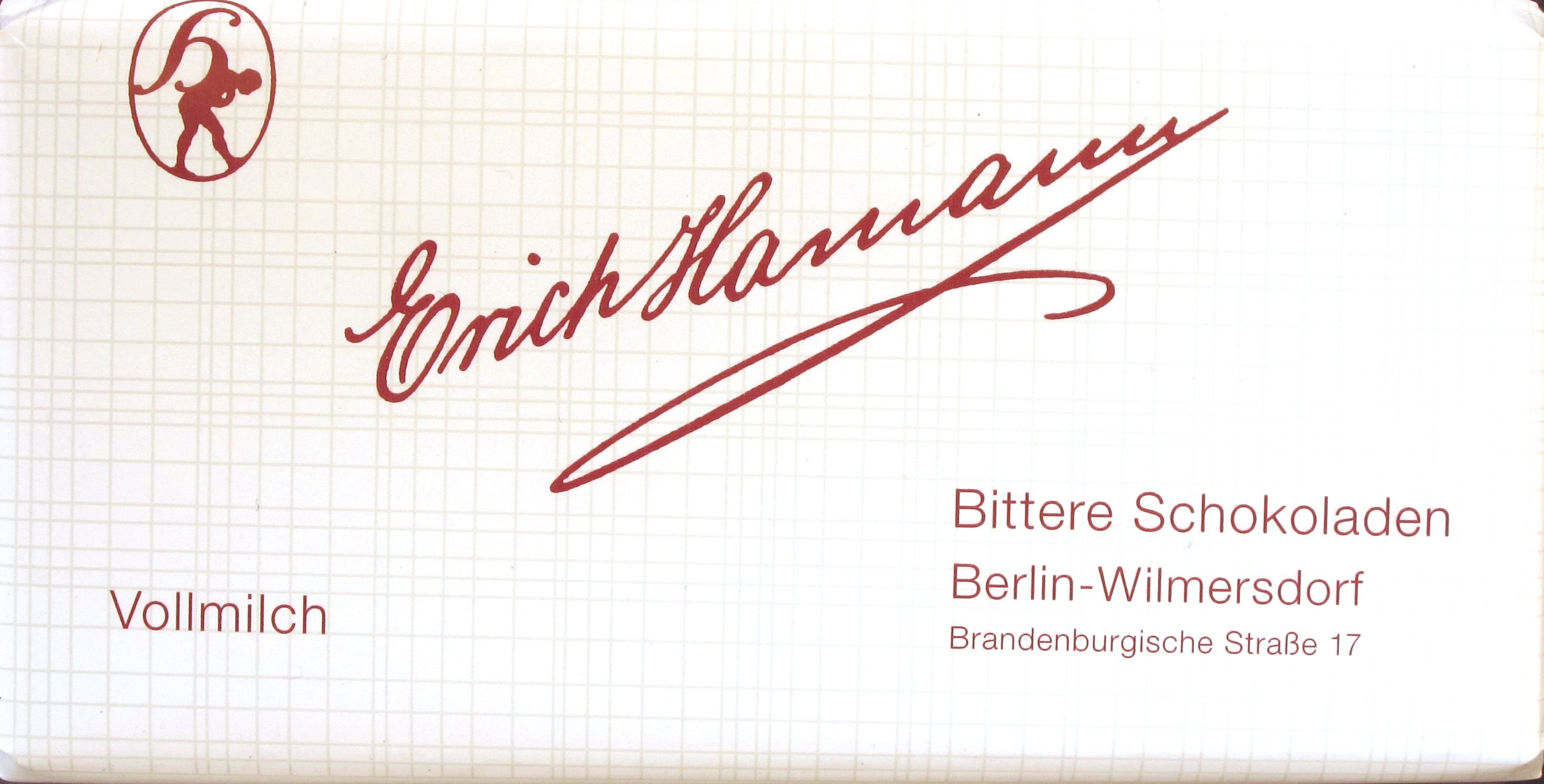 Packung, Erich Hamann, 40%-Schokolade