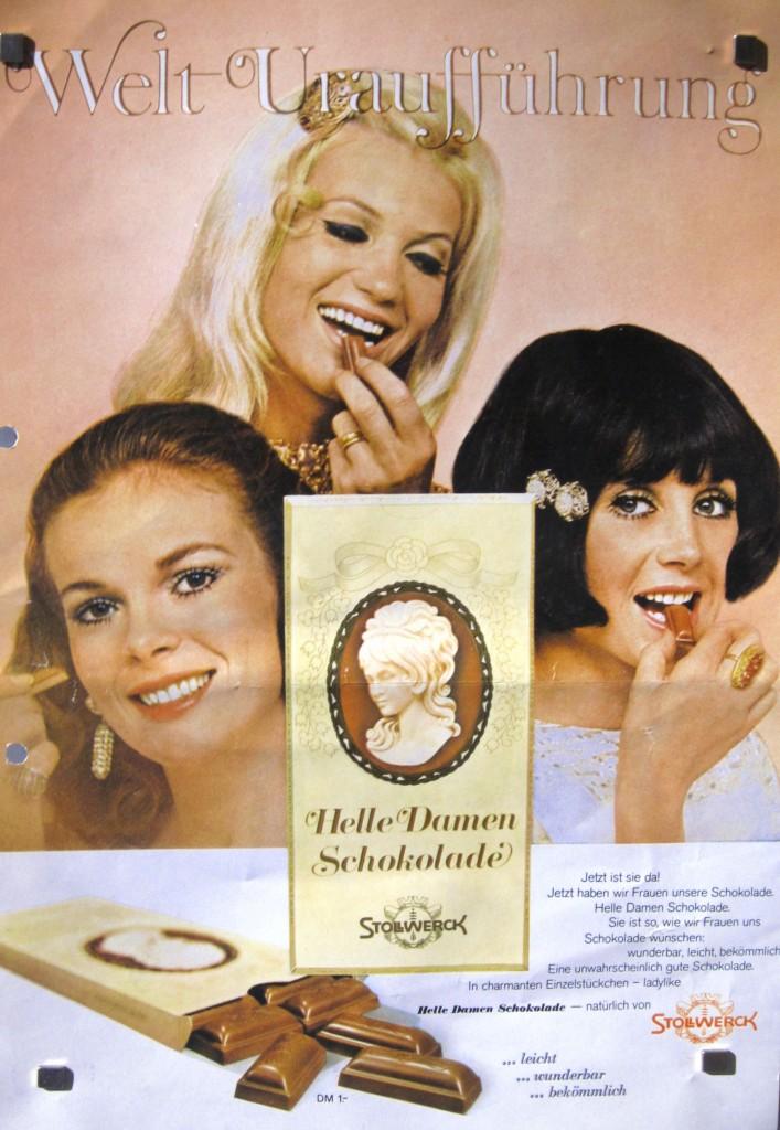 Helle Damen-Schokolade zur Schwarze Herren Schokolade