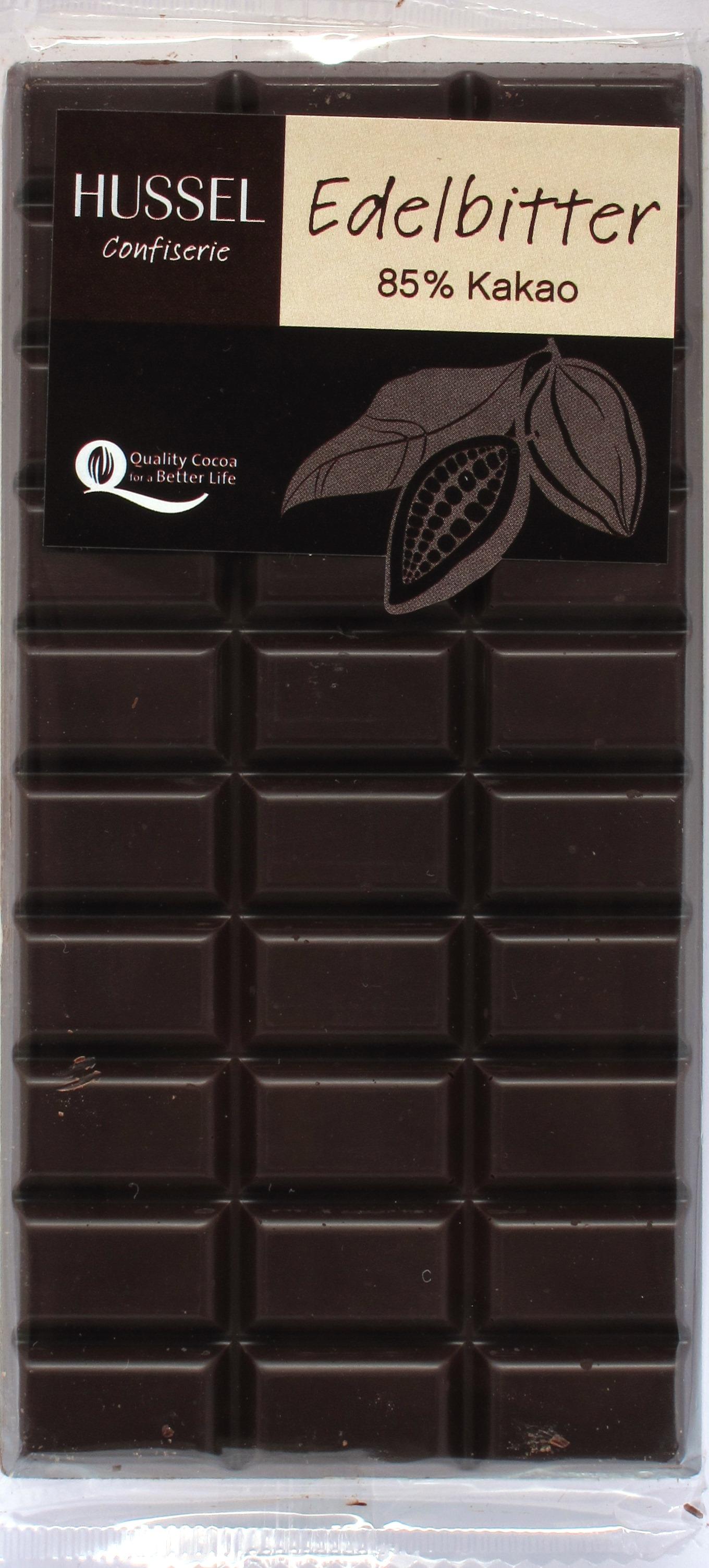 Hussel 85%-Schokolade