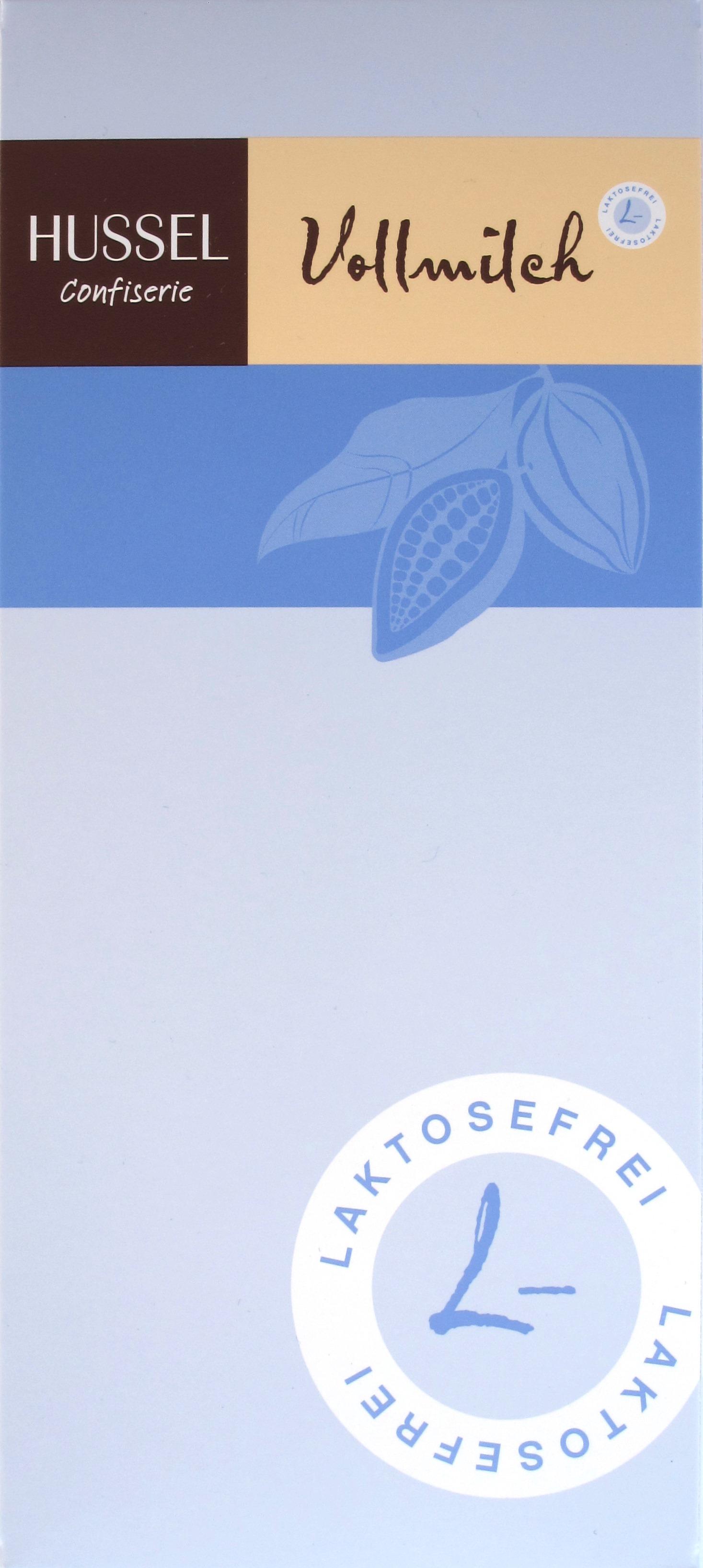 Hussel/Heilemann laktosefreie Vollmilchschokolade - Vorderseite