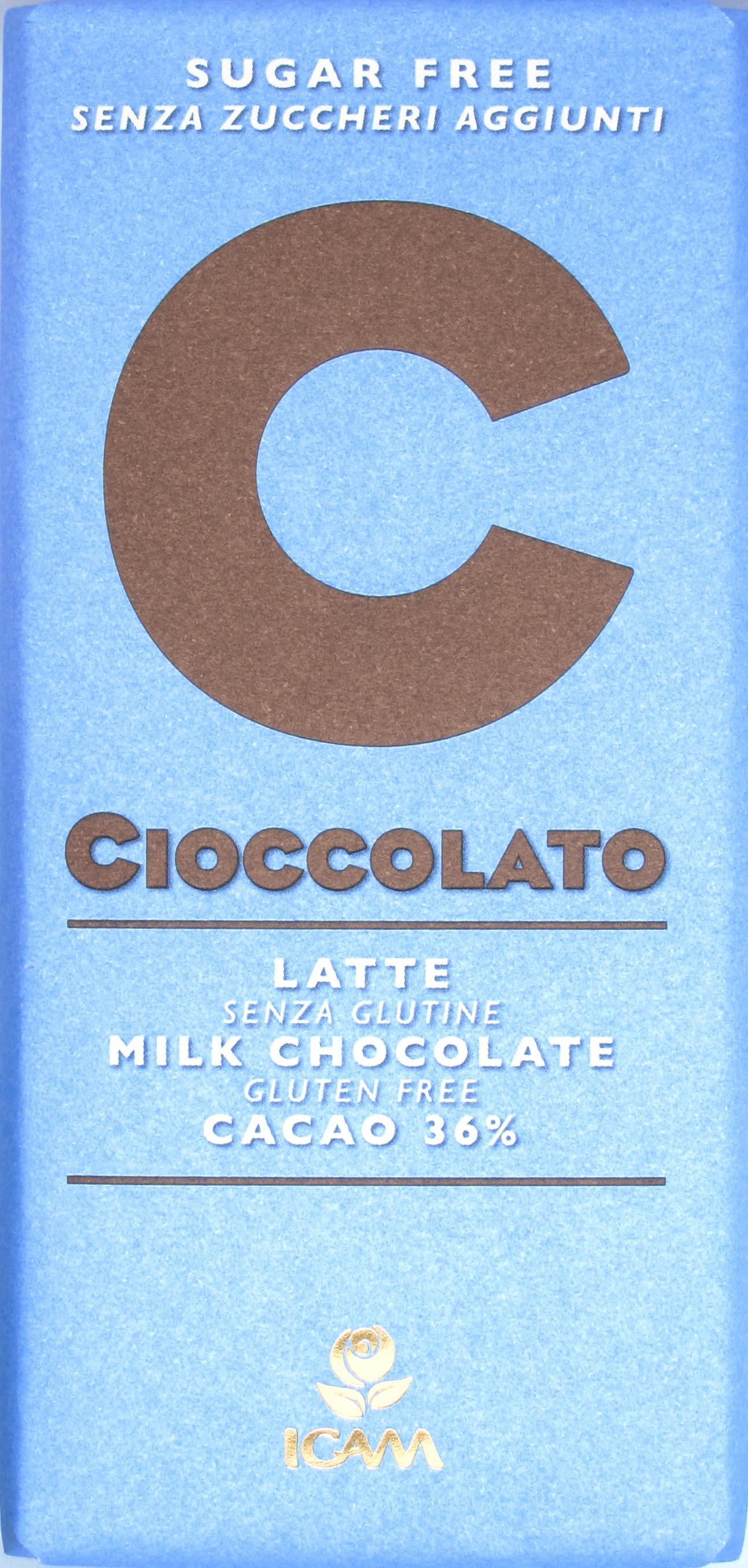 Zuckerfreie Milchschokolade von ICAM (Italien)