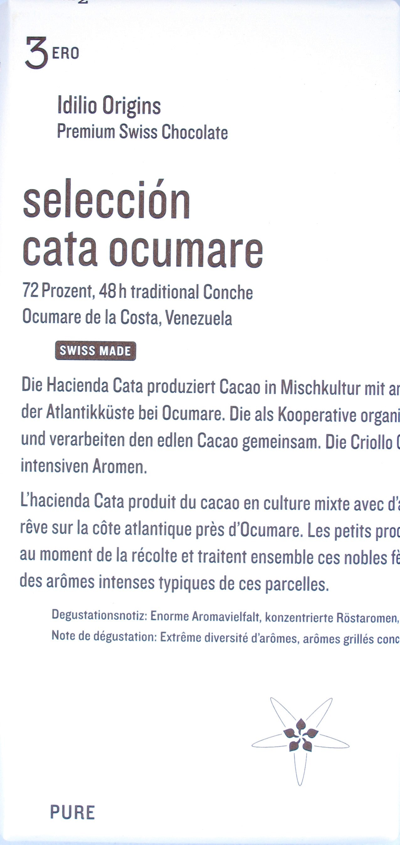 Idilio Venezuela-Bitterschokolade #3 Ocumare