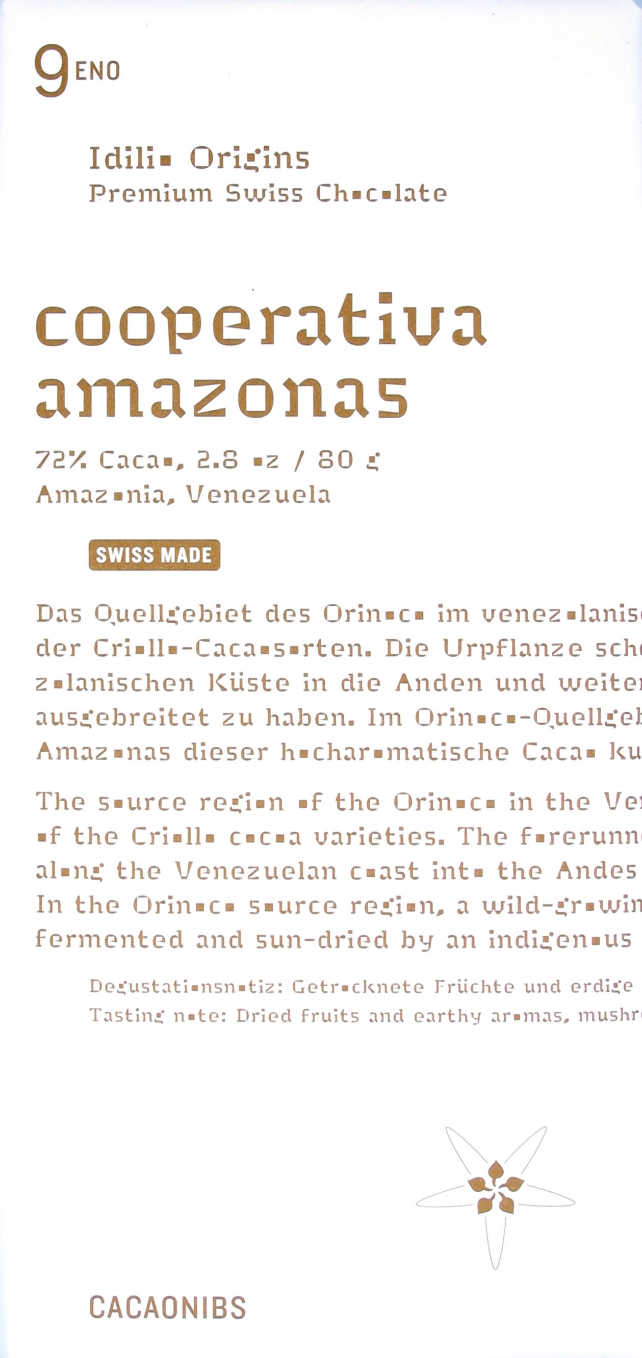 Idilio Cooperativa Amazonas mit Nibs