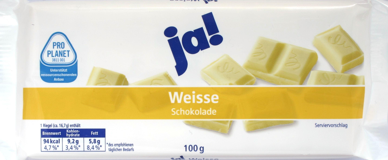 Ja! Schokolade: Weiß