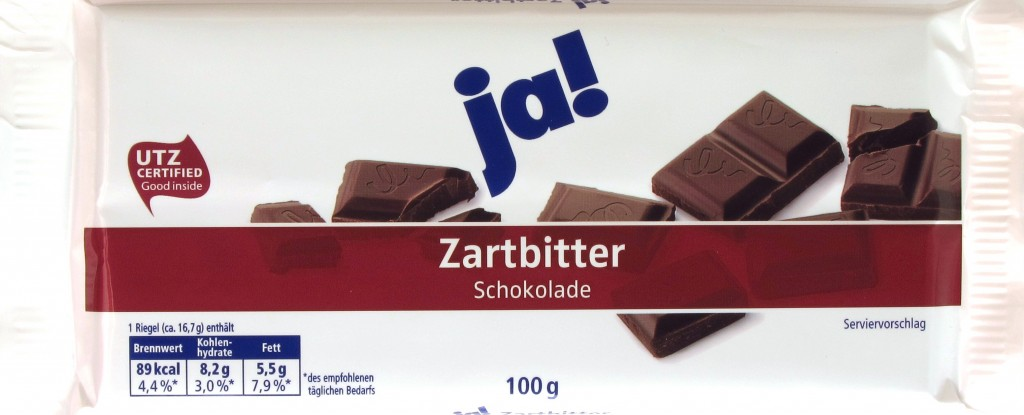 Ja! Zartbitter-Schokolade 50%