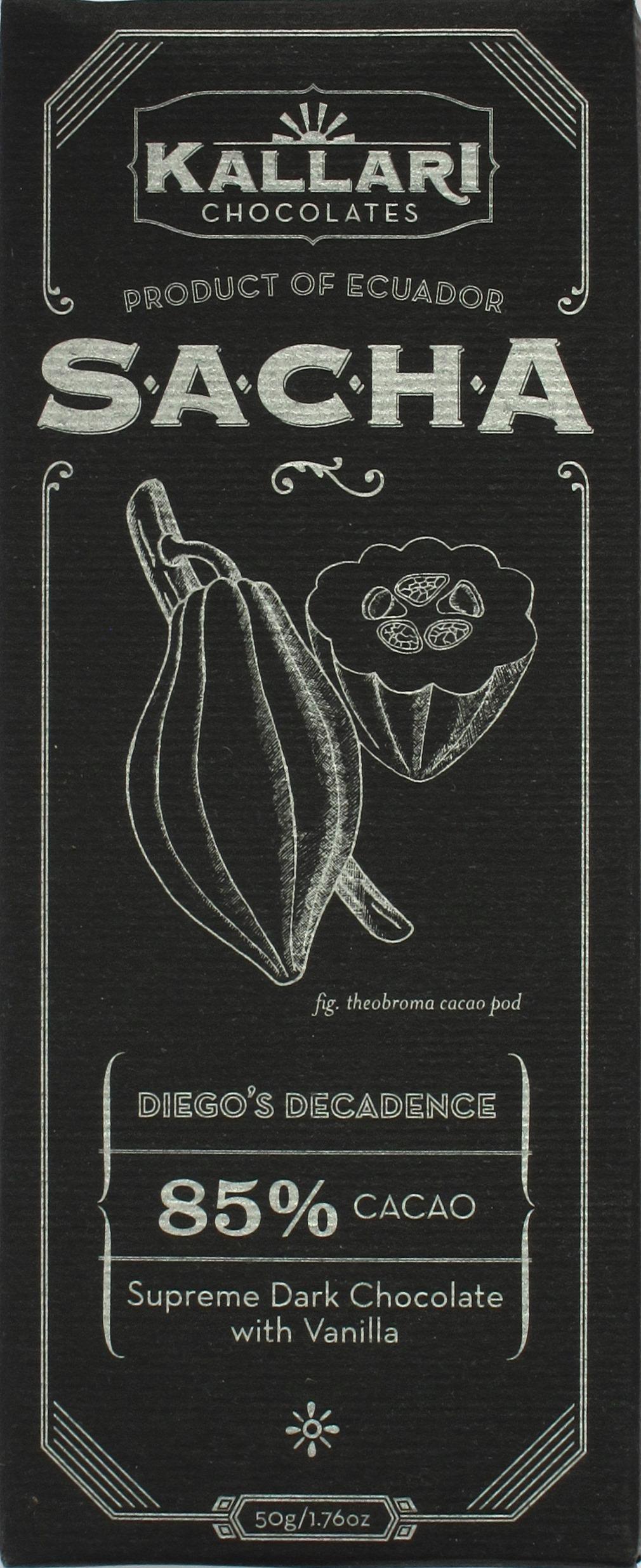 "Kallari-Schokolade Sacha ""Diego's Decadence"" (85%)"