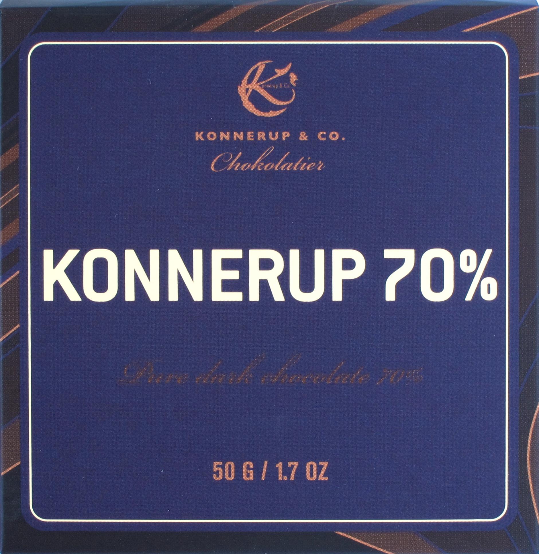 Konnerup & Co 70%-Schokolade