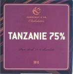 Konnerup 75% Tansania-Schokolade, vorne