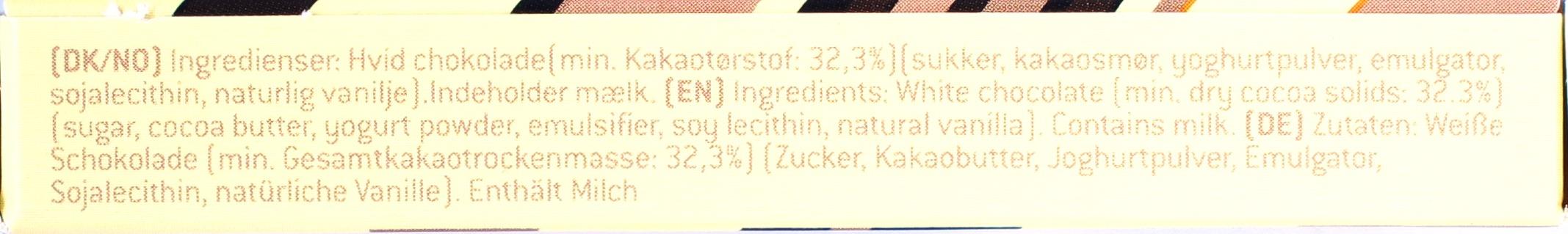 Konnerup Weiße Schokolade 32,3%, Seitenansicht