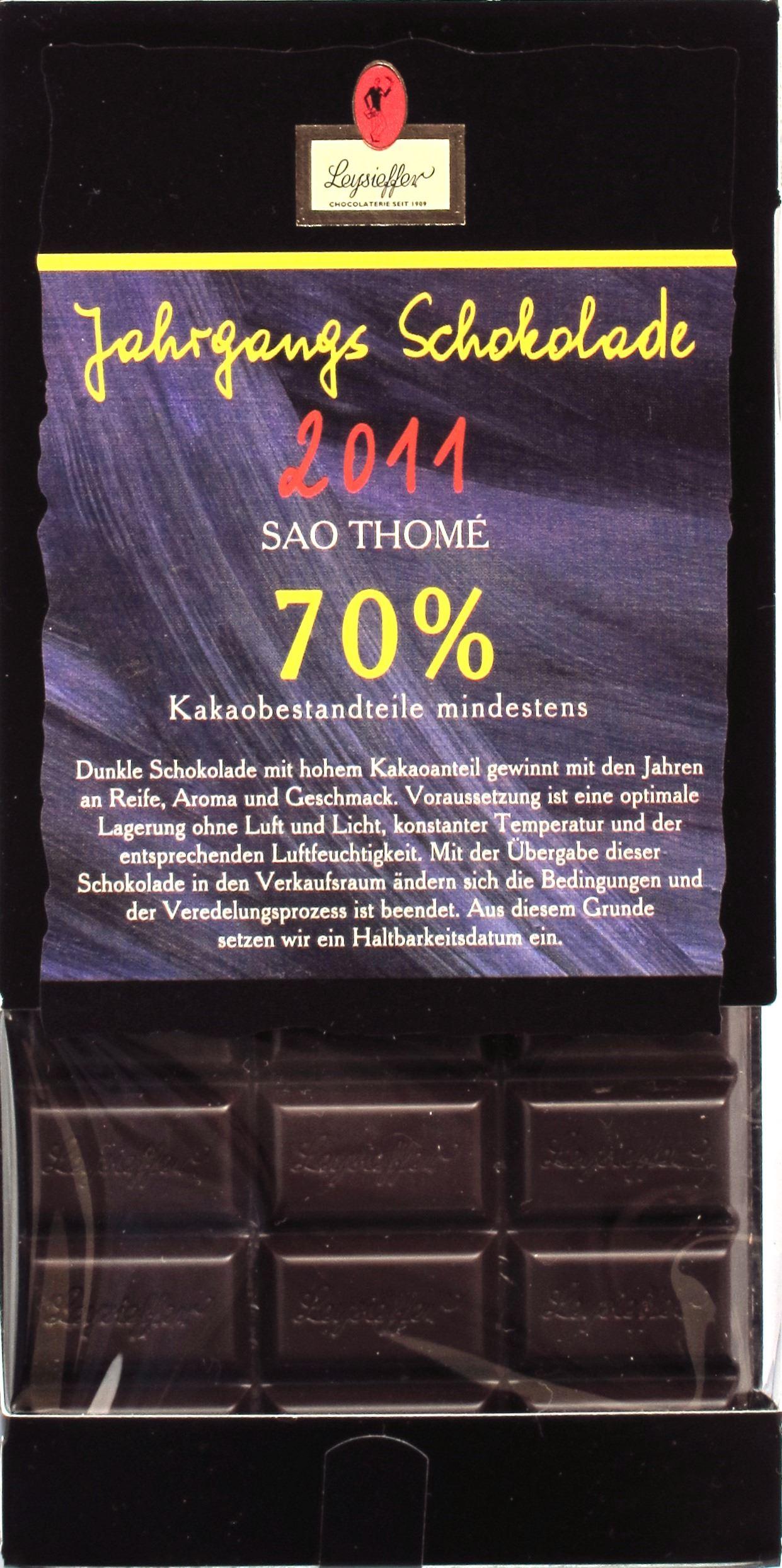 Leysieffer 2011-Jahrgangsschokolade
