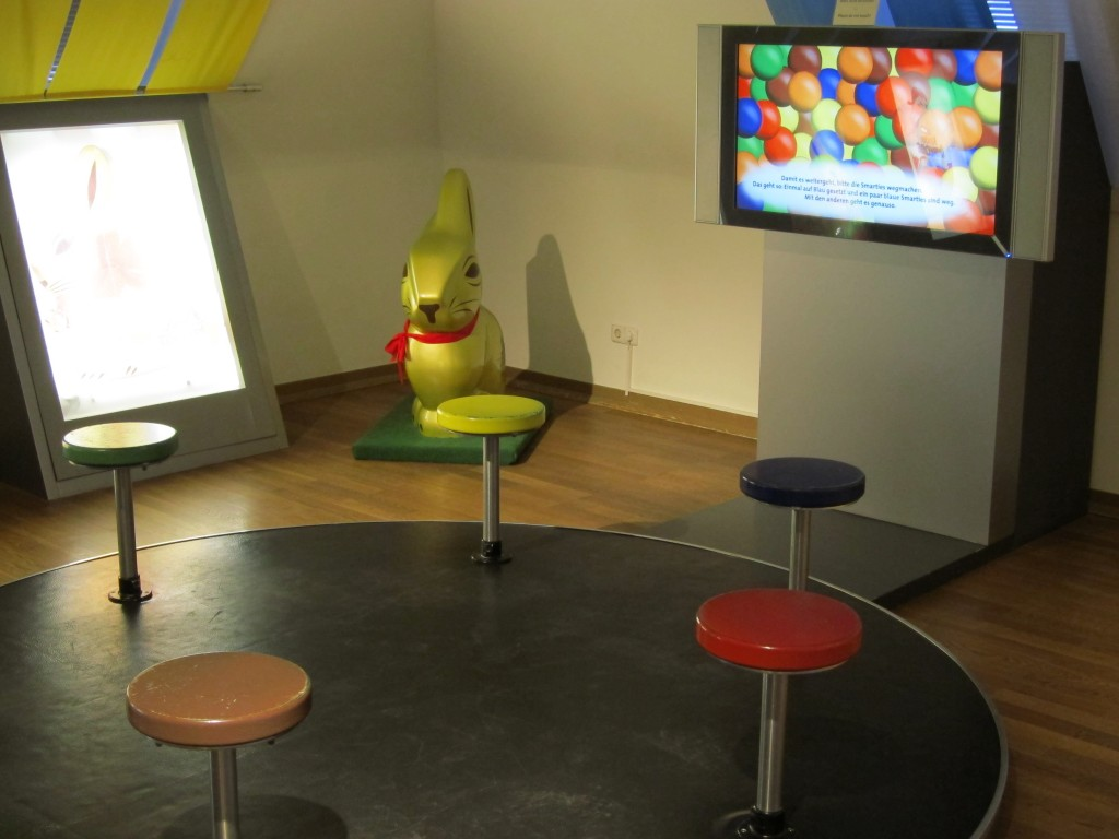 Kindsgroßer Lindt-Hase im Lindt-Imhoff-Schokoladenmuseum Köln