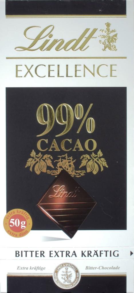 Lindt 99% Schokolade