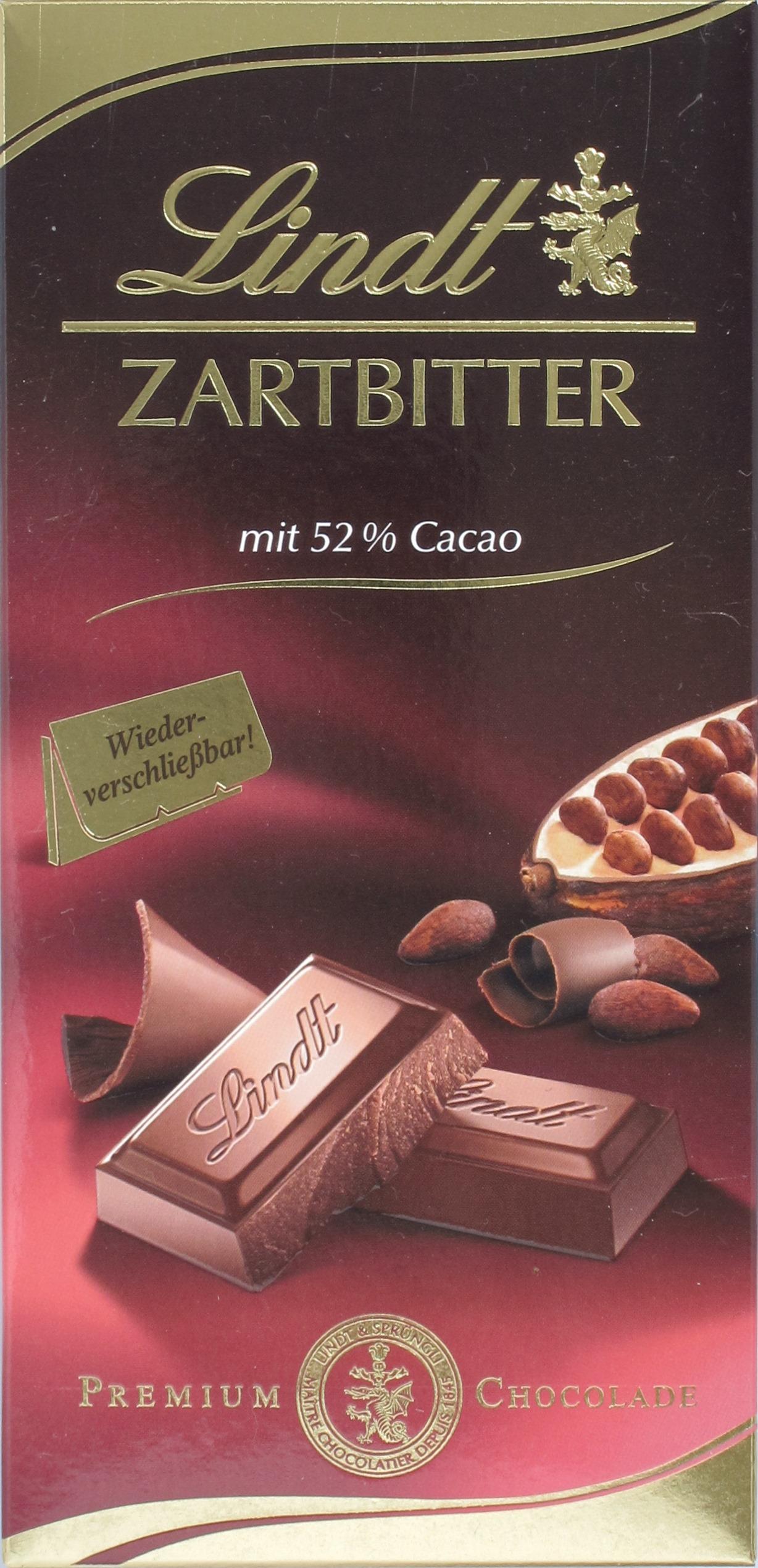 Vorderseite, Lindt Zartbitterschokolade