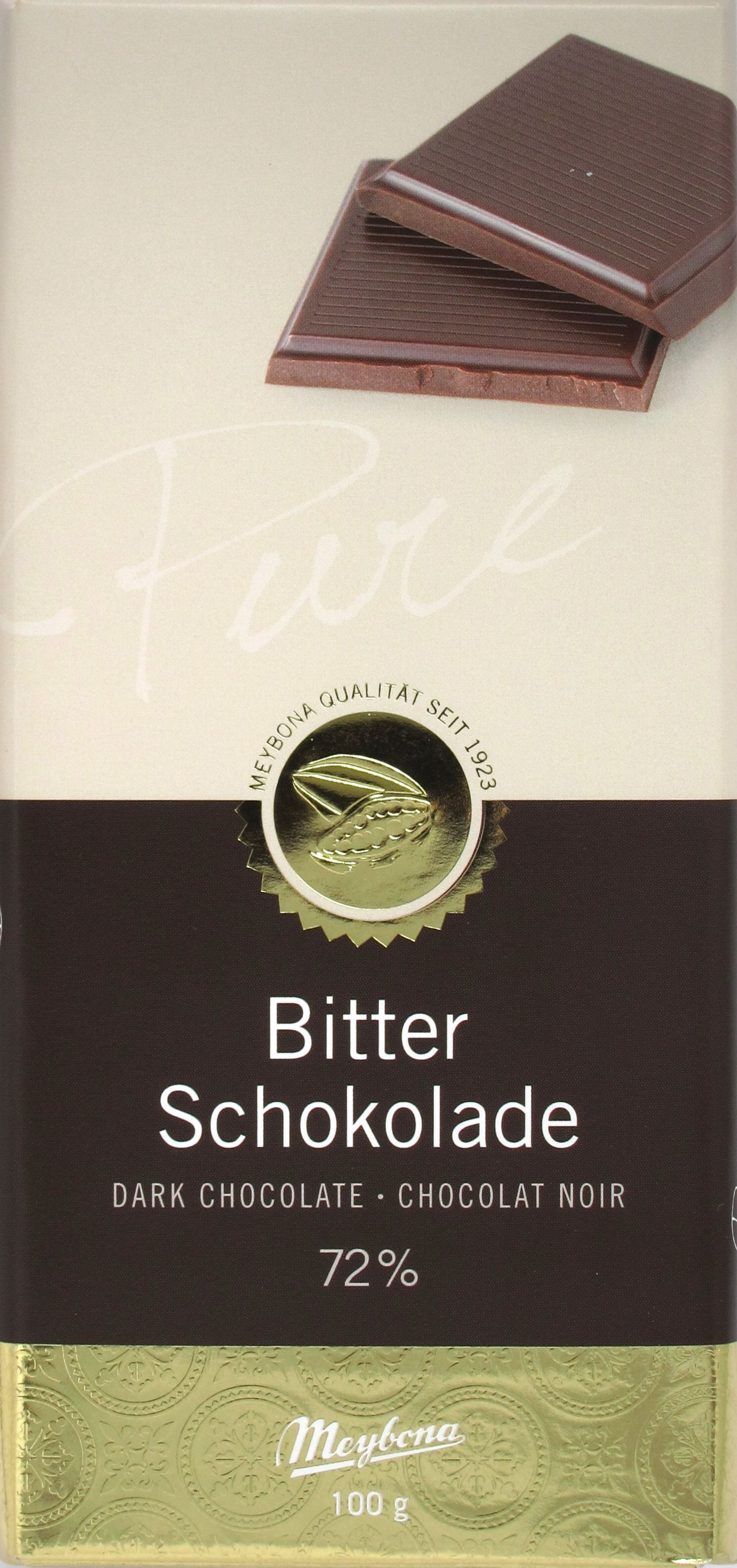Meybona Bitterschokolade (72%)