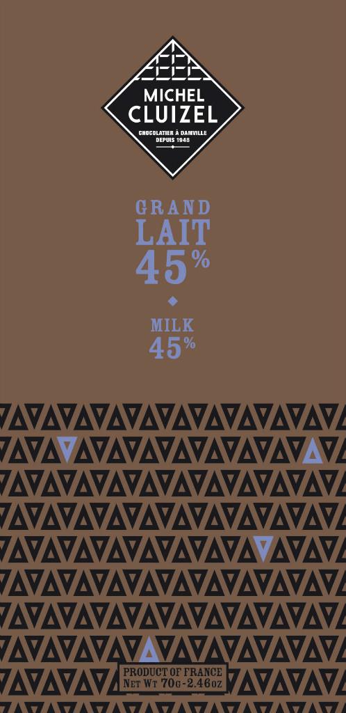 Michel Cluizel Grand Lait 45% Vorderansicht