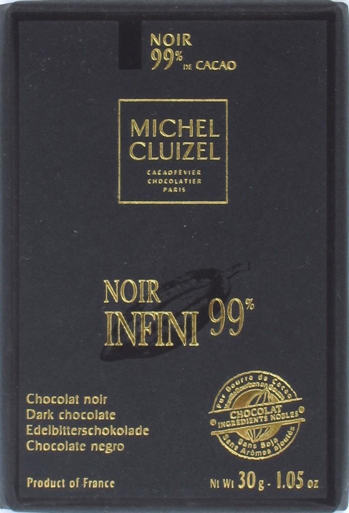 Vorderseite, Michel Cluizel 100%ige Schokolade Noir Infini