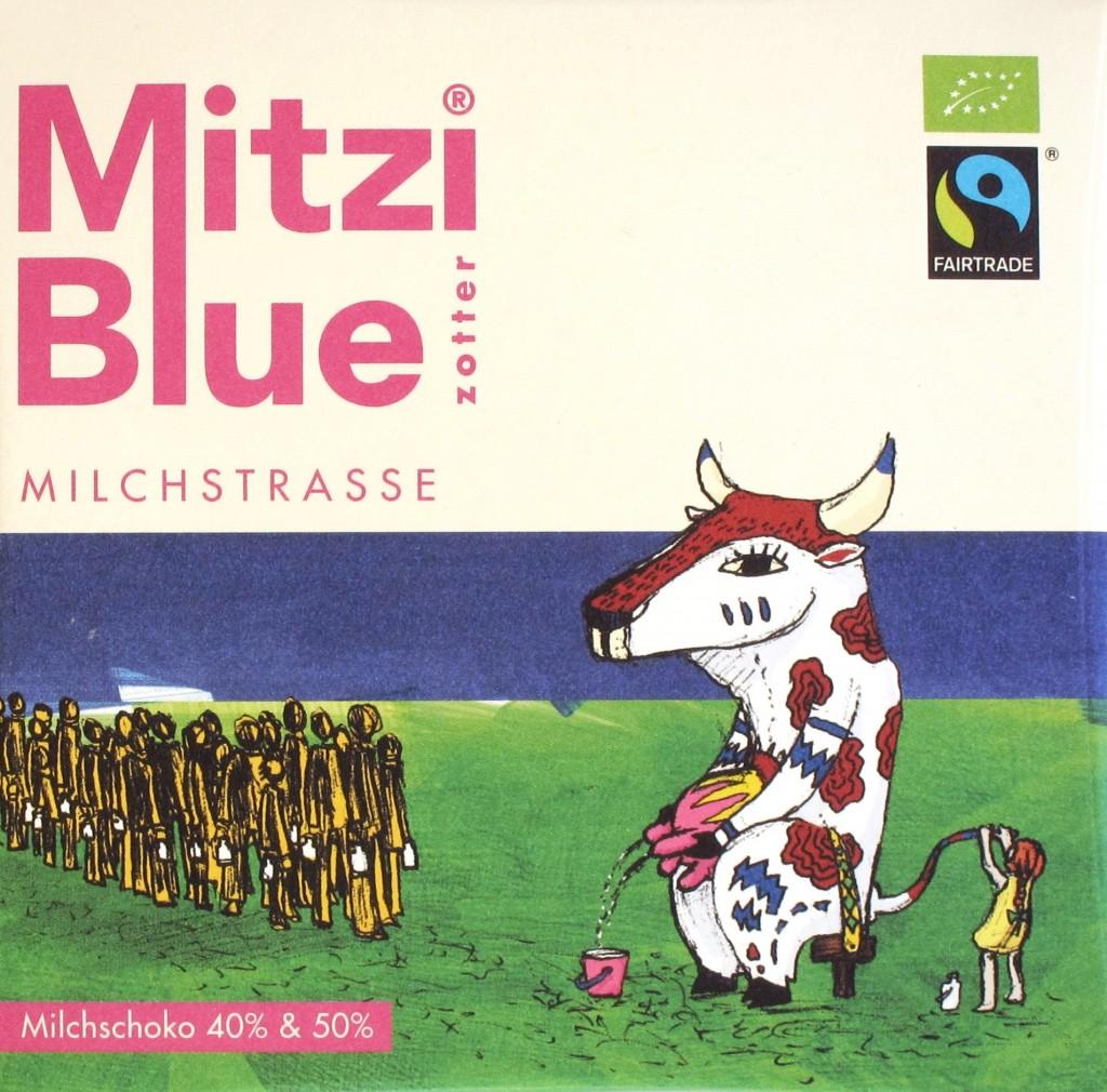 """Zotter """"Mitzi Blue"""" Milchstraßen-Schokolade mit 40 und 50% Kakaogehalt"""