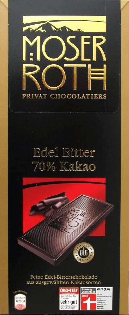 Dunkle Schokolade von Aldi: Moser Roth Edelbitter