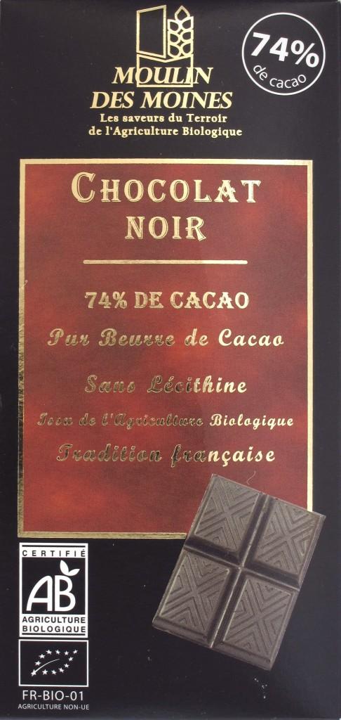 Moulin des Moines Chocolat Noir 74%