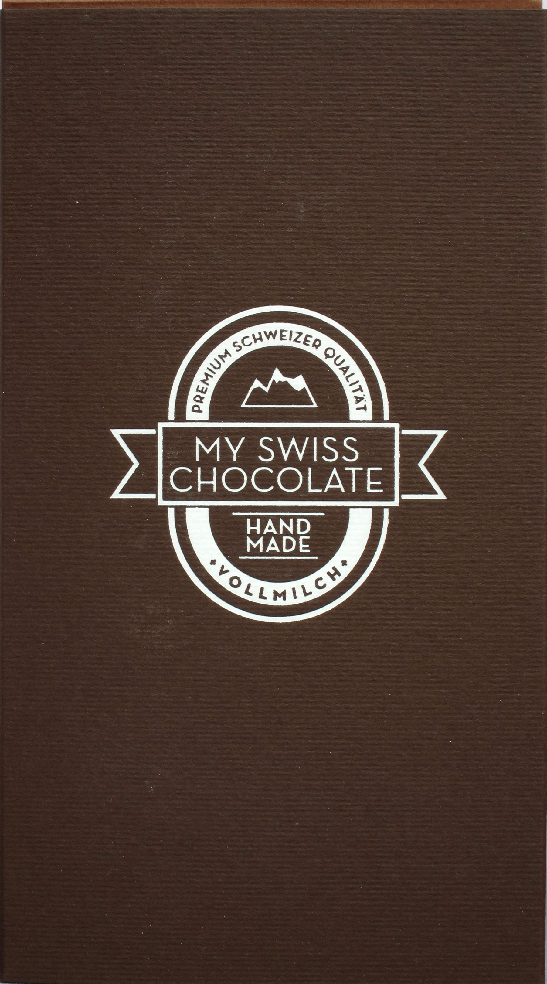 Vorderseite mySwissChocolate Milchschokolade