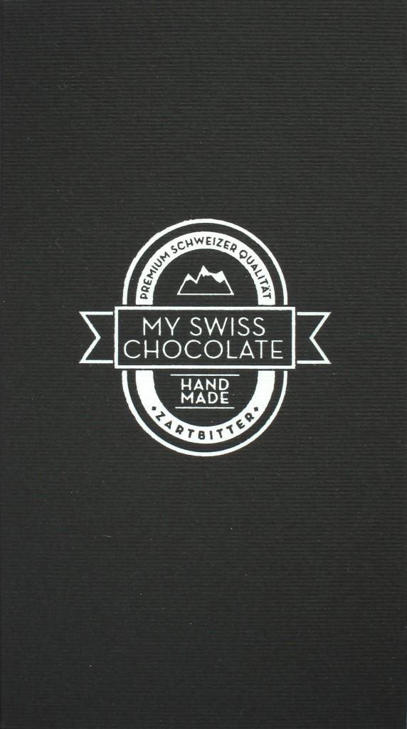 mySwissChocolate Zartbitterschokolade, Vorderseite
