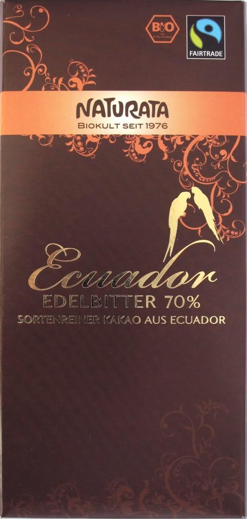 Naturata Ecador Edelbitter 70% Schokolade