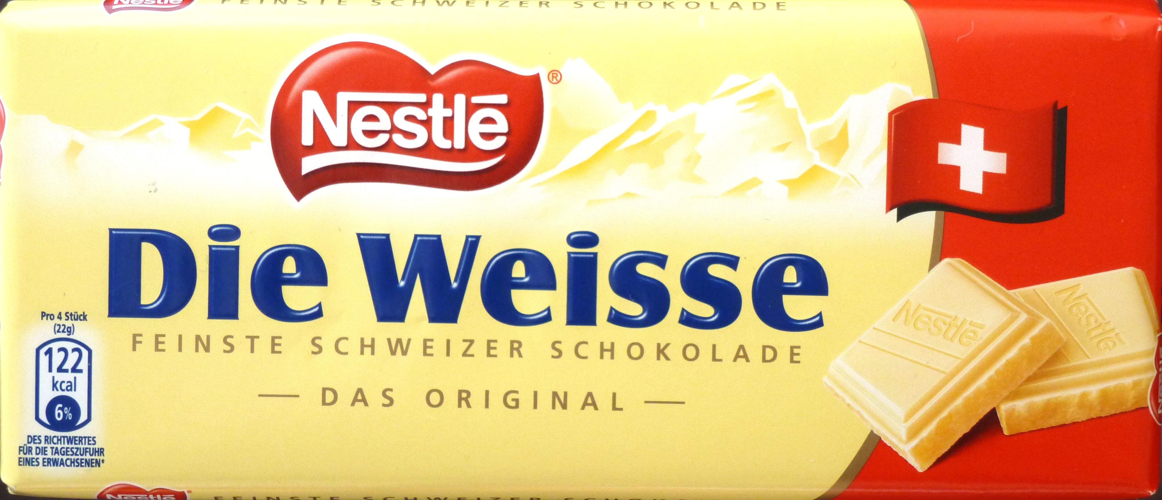 Nestlés weiße Schweizer Schokolade