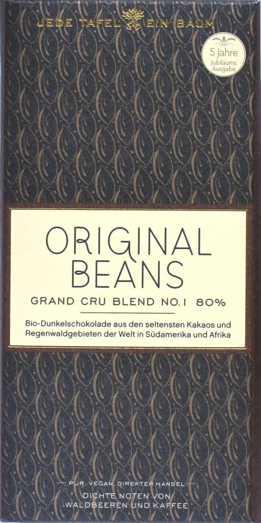 Schokolade, Tafel: Original Beans Grand Cru No. 1