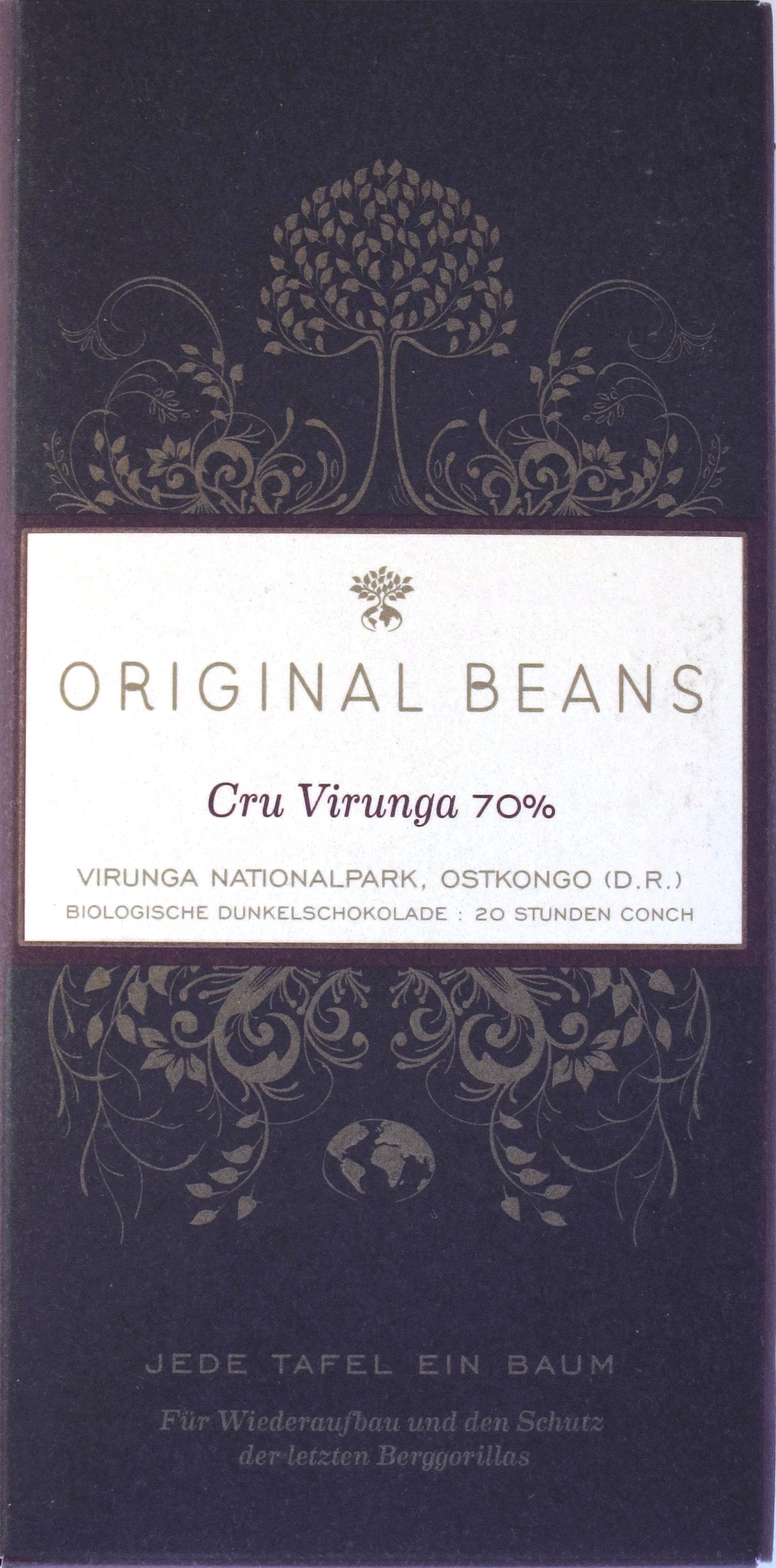 Original Beans, Cru Virunga, Bitterschokolade 70%