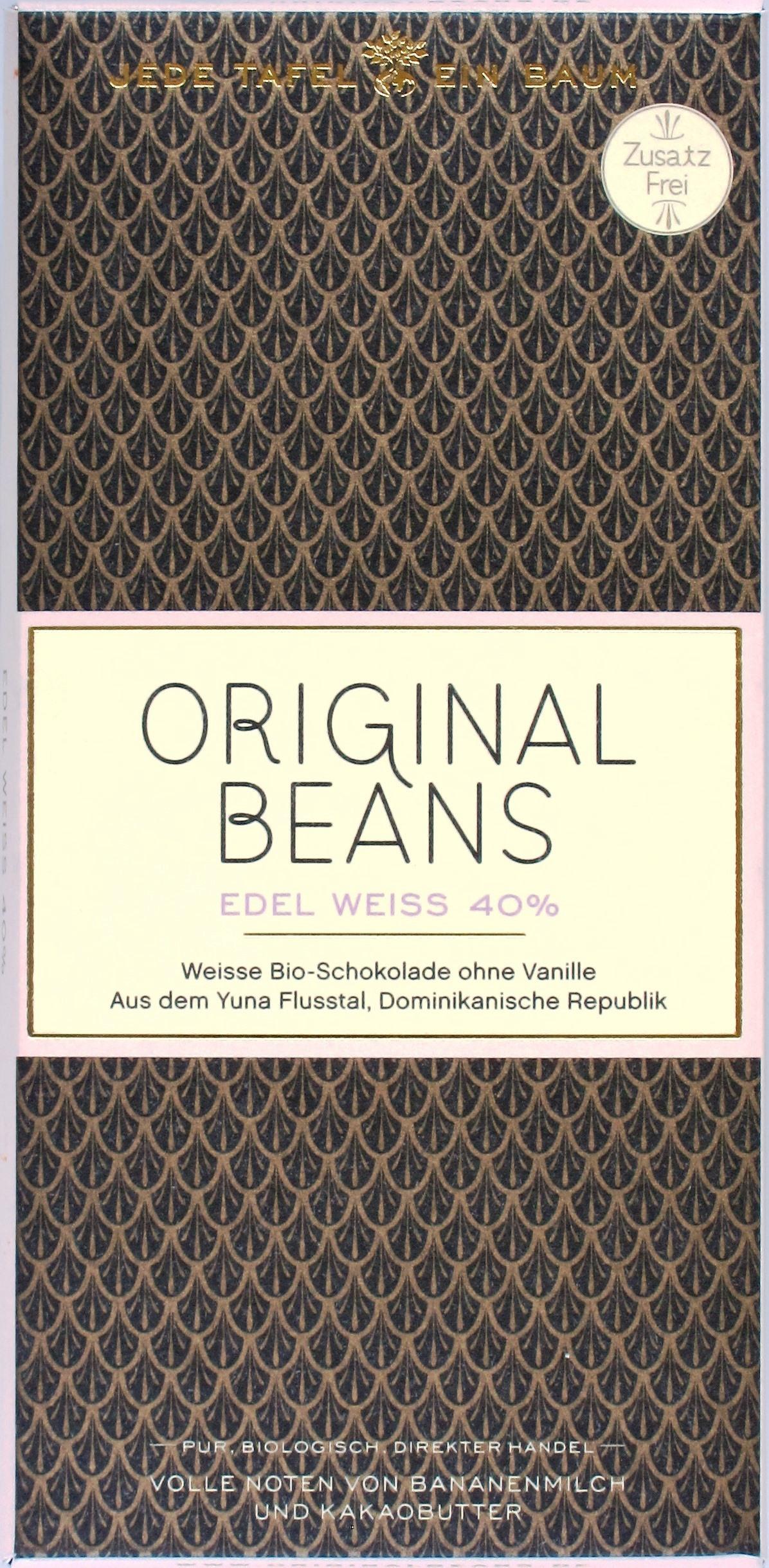 Original Beans Weiße Schokolade