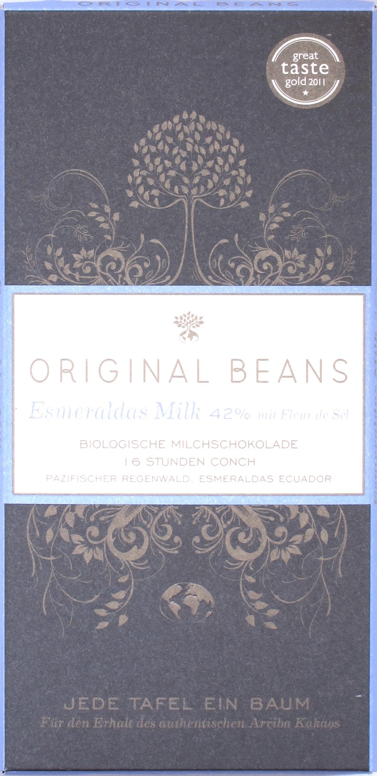 """Original Beans """"Milk Esmeraldas 42%"""""""