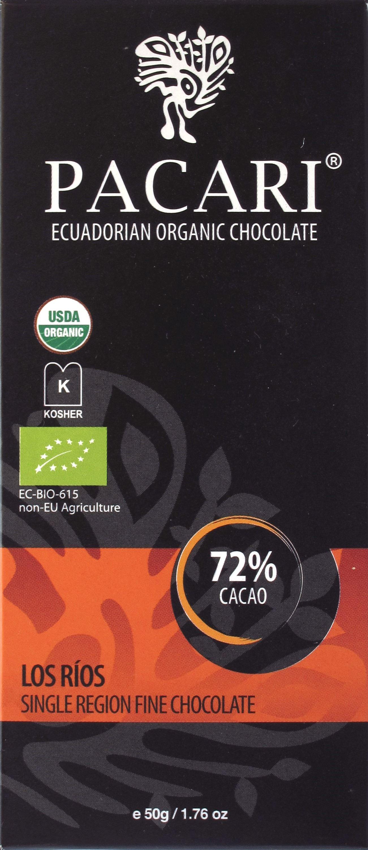 Pacari-Arriba-Schokolade Los Rios 72%