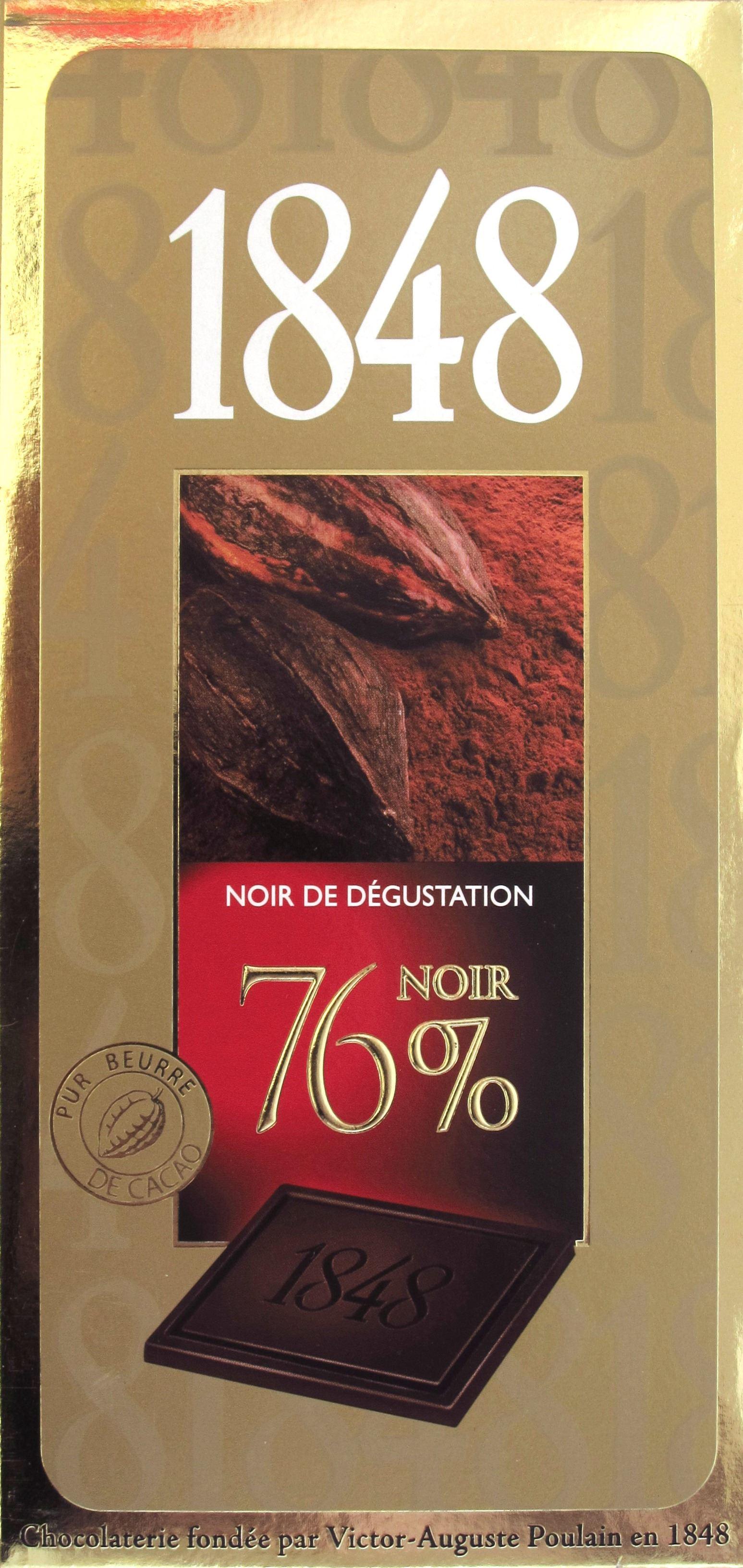 "Tafel Poulain ""1848"" 76%"