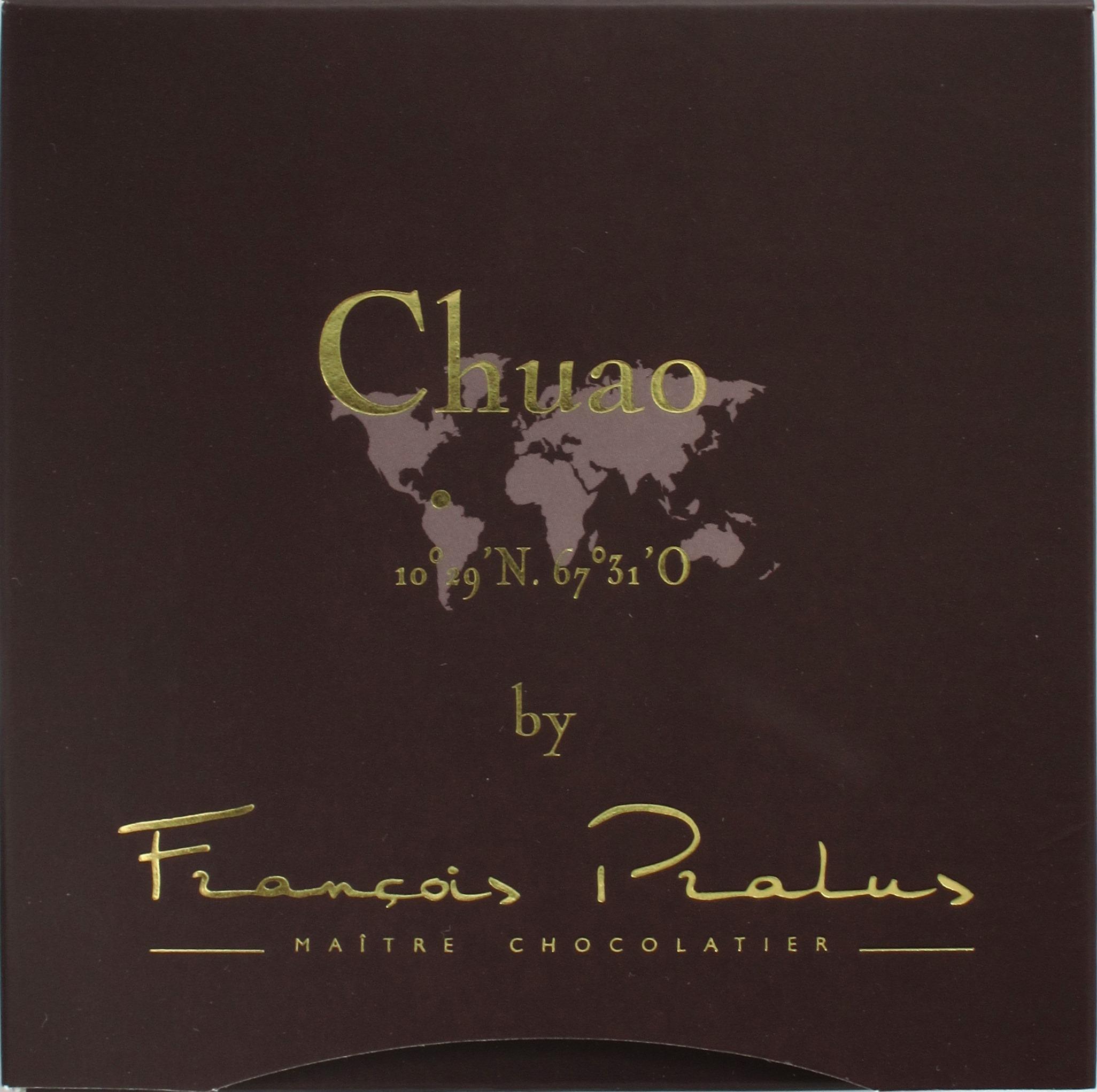 "Vorderseite, Francois Pralus ""Chuao"""