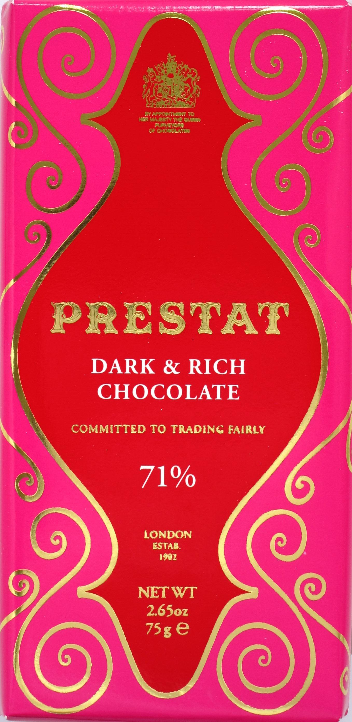 Prestat 71% Schokolade aus Westafrika