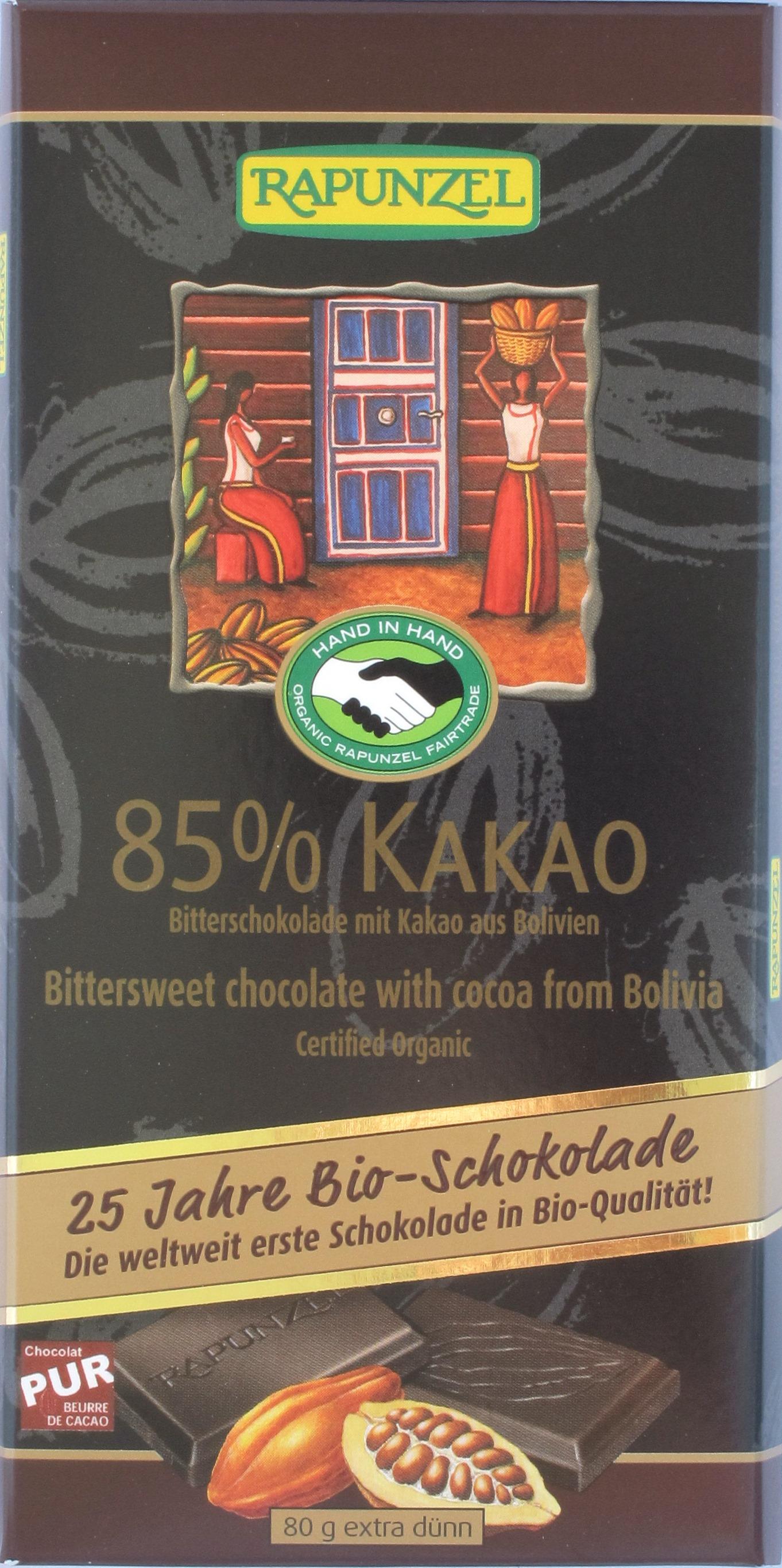 Rapunzel Bio-/Fairtrade-Schokolade 85%